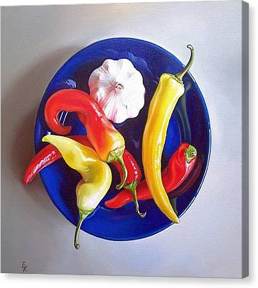 Summer Plate 1 Canvas Print