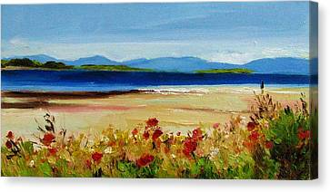 Hornby Island Canvas Print - Summer Poppies by Coral May Barclay