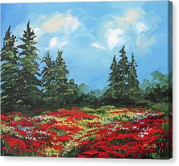 Summer Poppies IIi Canvas Print by Torrie Smiley