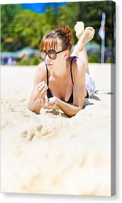 Summer Portrait Of Relaxation Canvas Print