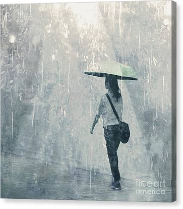 Canvas Print featuring the photograph Summer Rain by LemonArt Photography