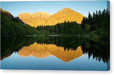 Summer Reflections In Glencoe Canvas Print by Stephen Taylor