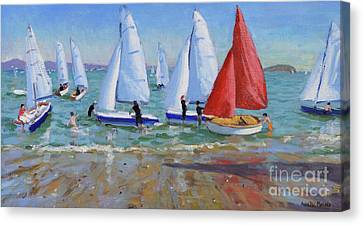 Summer Regatta, Abersoch Canvas Print by Andrew Macara
