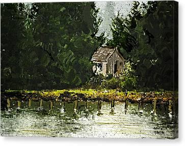 Canvas Print featuring the digital art Summer Retreat by Dale Stillman