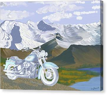 Canvas Print featuring the drawing Summer Ride by Terry Frederick