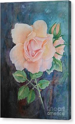 Summer Rose - Painting Canvas Print by Veronica Rickard
