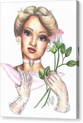 Summer Rose Canvas Print by Scarlett Royal