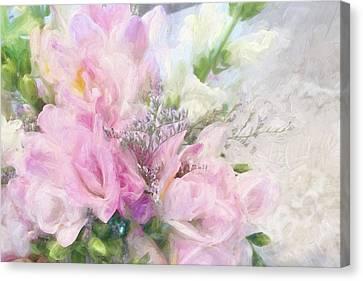 Summer Roses Canvas Print by Karen Lynch