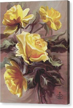 Summer Roses Canvas Print by Ron Chambers