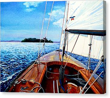 Summer Sailing Canvas Print by Hanne Lore Koehler