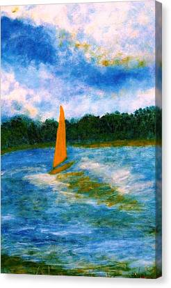 Summer Sailing Canvas Print by John Scates
