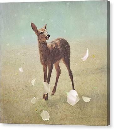 Canvas Print featuring the photograph Summer Sakura by Sally Banfill