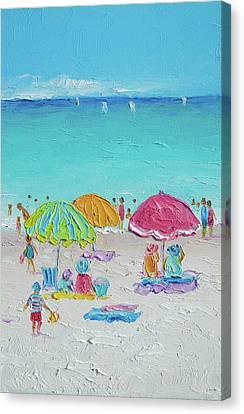Summer Scene Diptych 2 Canvas Print by Jan Matson