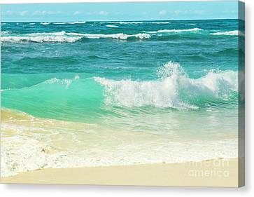 Canvas Print featuring the photograph Summer Sea by Sharon Mau