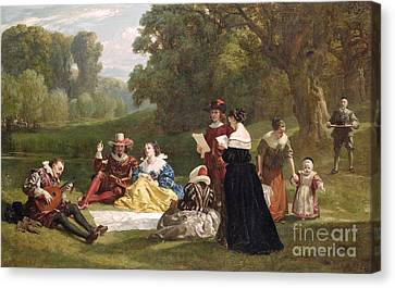 Lute Canvas Print - Summer Song by Frederick Goodall