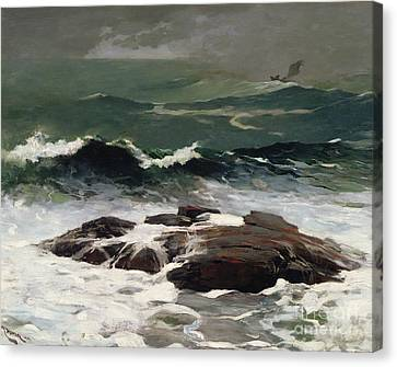Crashing Canvas Print - Summer Squall by Winslow Homer