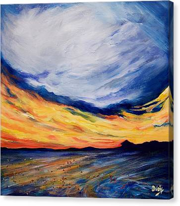 Summer Storm Canvas Print by Debi Starr