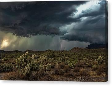 Canvas Print featuring the photograph Summer Storm  by Saija Lehtonen