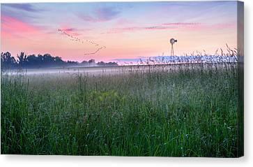 Summer Sunrise 2015 Canvas Print by Bill Wakeley