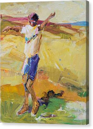 Canvas Print featuring the painting Summer Sun Dance   by Diane Ursin