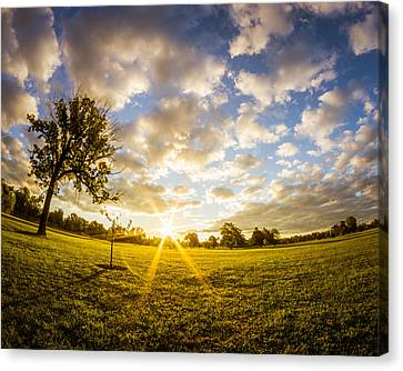 Canvas Print featuring the photograph Summer Sunrise Across Delware Park Meadow by Chris Bordeleau