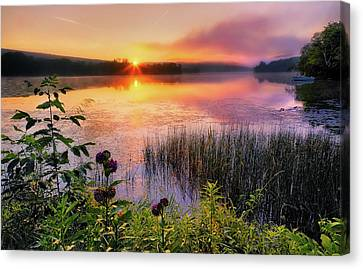 Kent Connecticut Canvas Print - Summer Sunrise by Bill Wakeley