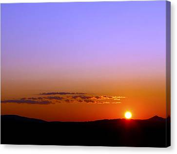 Canvas Print featuring the photograph Summer Sunset by Gary Smith