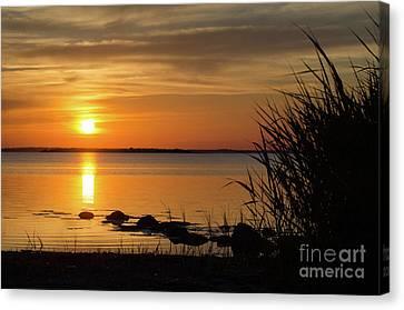 Canvas Print featuring the photograph Summer Sunset by Kennerth and Birgitta Kullman