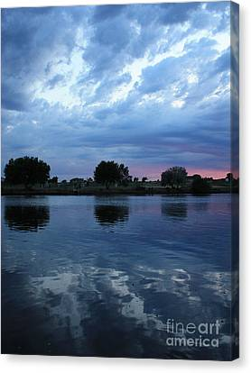 Summer Sunset On Yakima River 5 Canvas Print by Carol Groenen