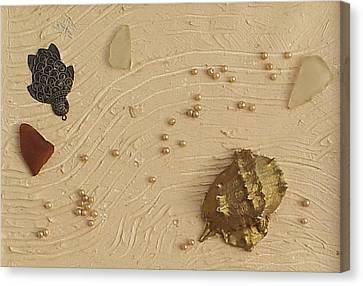 Turtle Shell Canvas Print - Summer Treasure by Helen Krummenacker