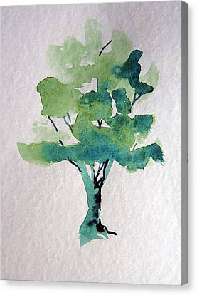Summer Tree Canvas Print by Mindy Newman