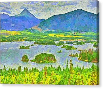 Summer View Of Lake Dillon In The Colorado Rocky Mountains Canvas Print