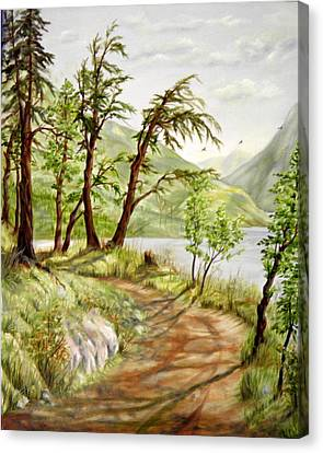 Summer Walk Canvas Print