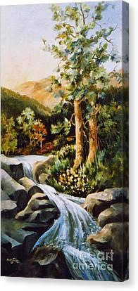 Summer Waterfall Canvas Print by Marta Styk