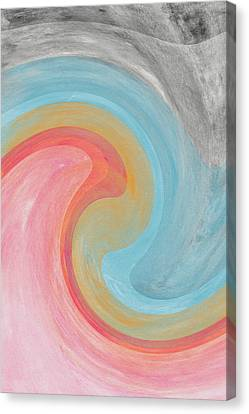 Summer Waves- Abstract Art By Linda Woods Canvas Print