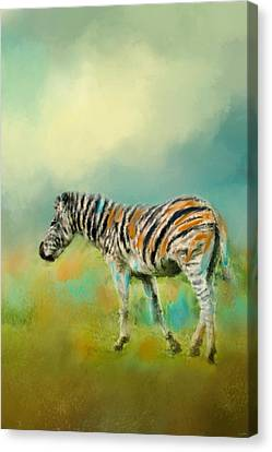 Summer Zebra 2 Canvas Print by Jai Johnson