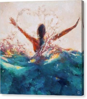 Canvas Print featuring the digital art Summers Delight by Gun Legler