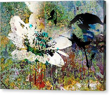 Summers Garden Canvas Print by Angela Holmes