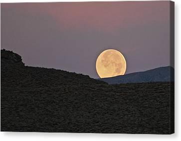 Summers Super Moon Canvas Print