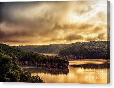 Nicholas County Canvas Print - Summersville Lake At Daybreak by Thomas R Fletcher