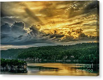 Summersville Lake Sunrise Canvas Print