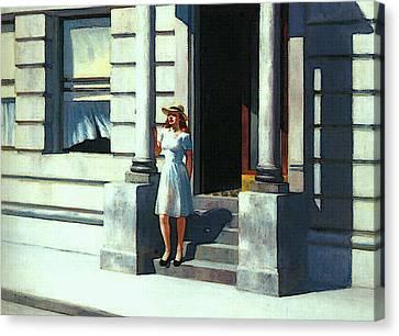 Summertime  Canvas Print by Edward Hopper