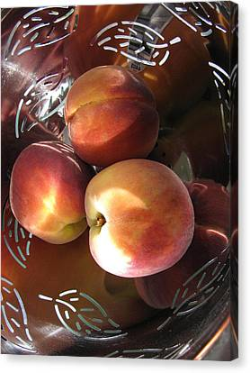 Canvas Print featuring the photograph Summertime Fruit by Lindie Racz