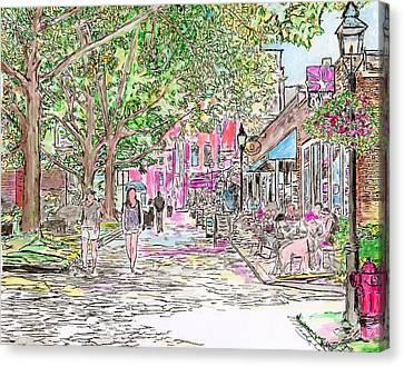 Summertime In Newburyport, Massachusetts Canvas Print