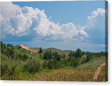 Summertime In The Grand Sable Dunes Canvas Print