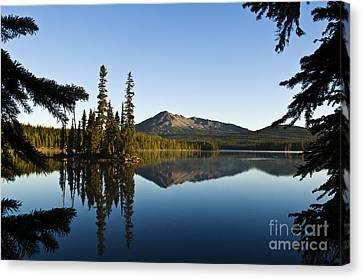 Mountain Reflection Lake Summit Mirror Canvas Print - Summit Lake by Greg Vaughn - Printscapes