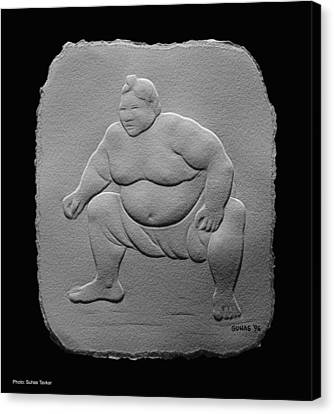 Canvas Print featuring the relief Sumo by Suhas Tavkar