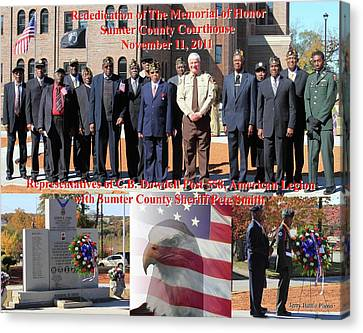 Sumter County Memorial Of Honor Canvas Print