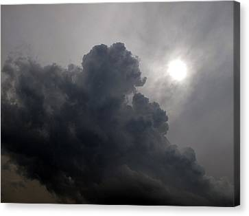 Sun Above The Clouds  Canvas Print