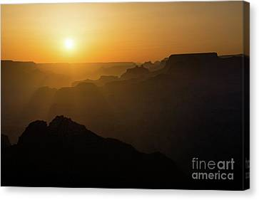 Sun And Layers Canvas Print by Jamie Pham